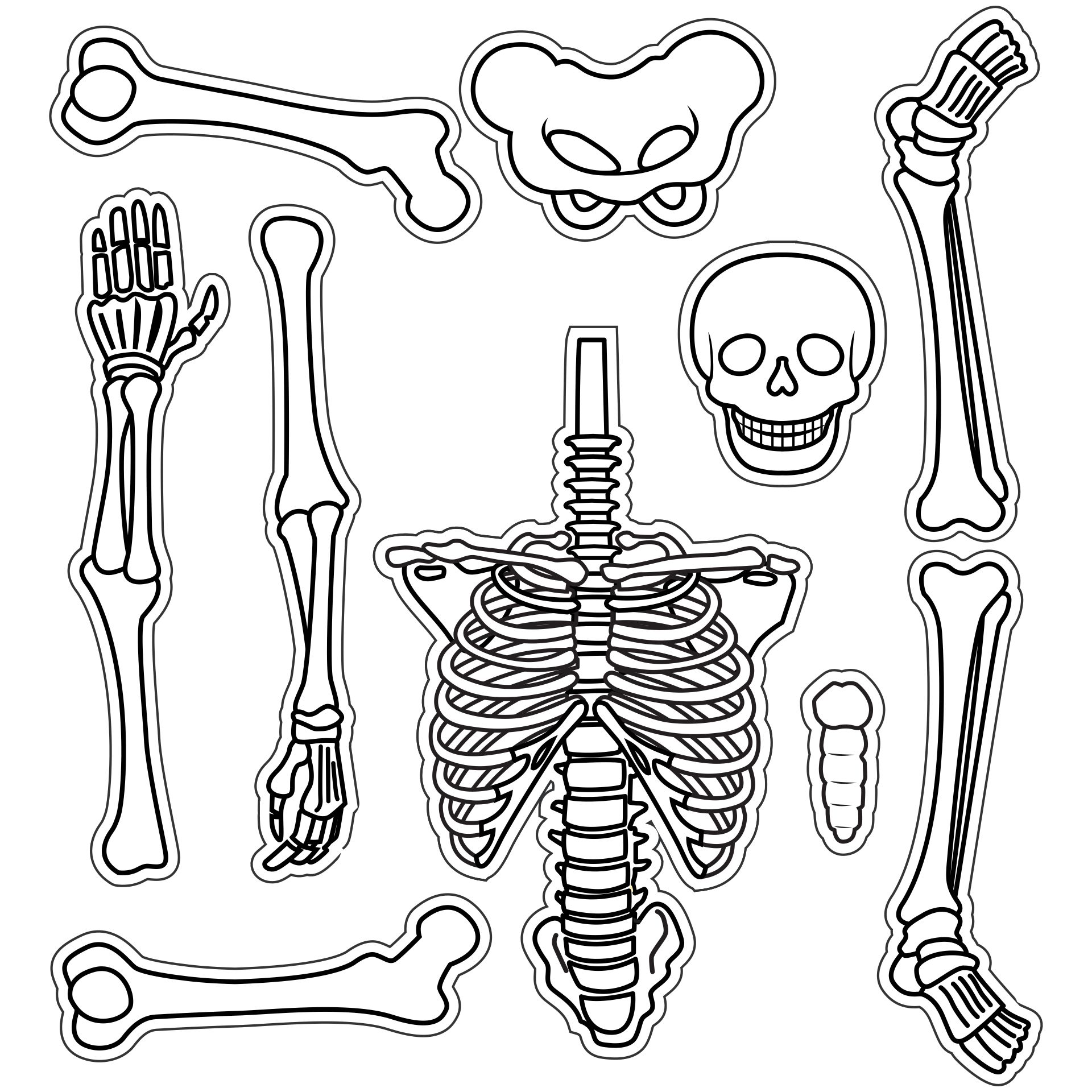 6 Best Large Printable Skeleton Template Printablee Com