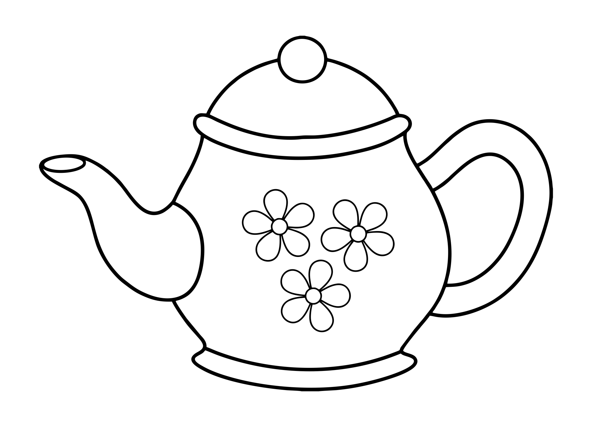 Printable Tea Pot