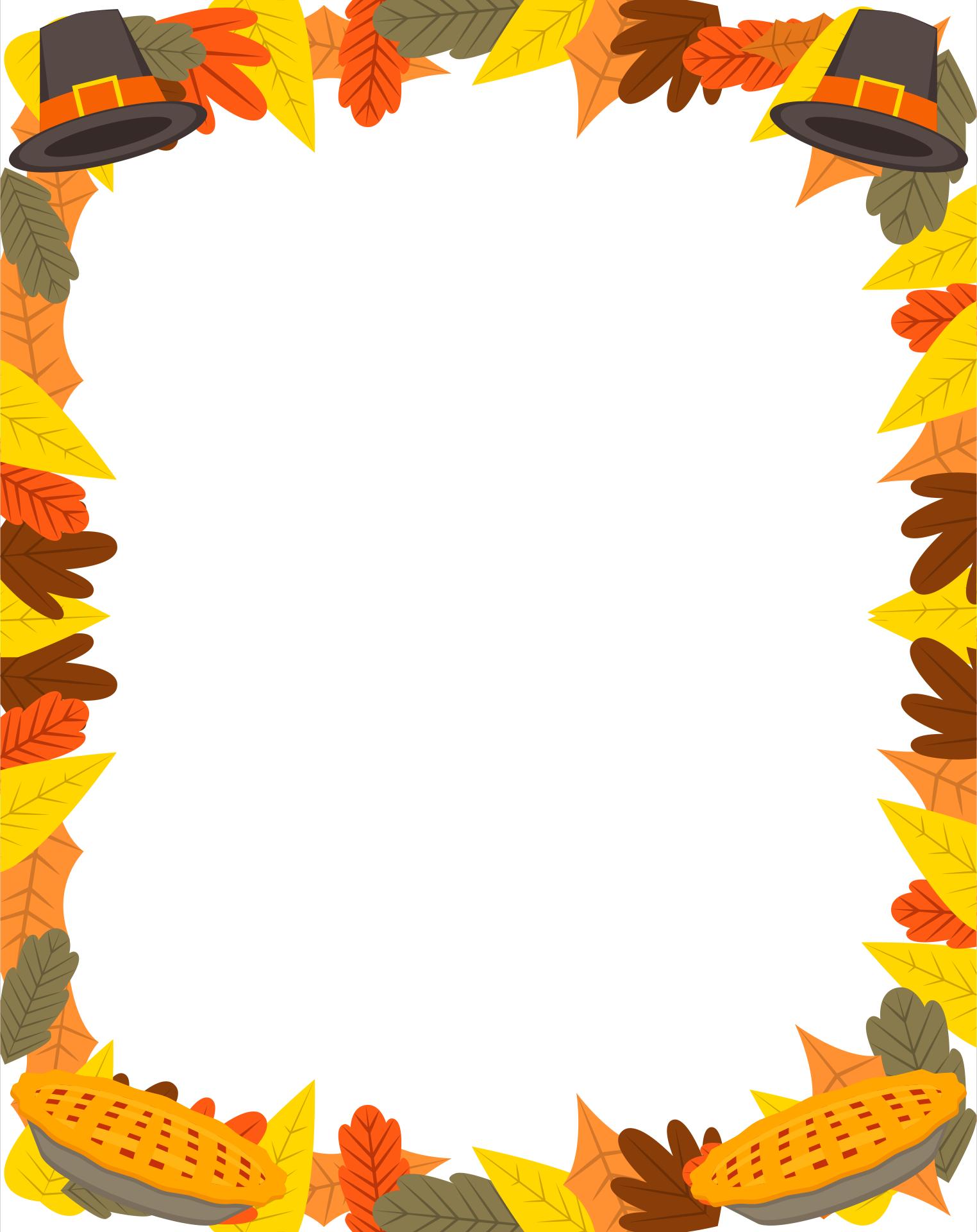 Printable Thanksgiving Borders