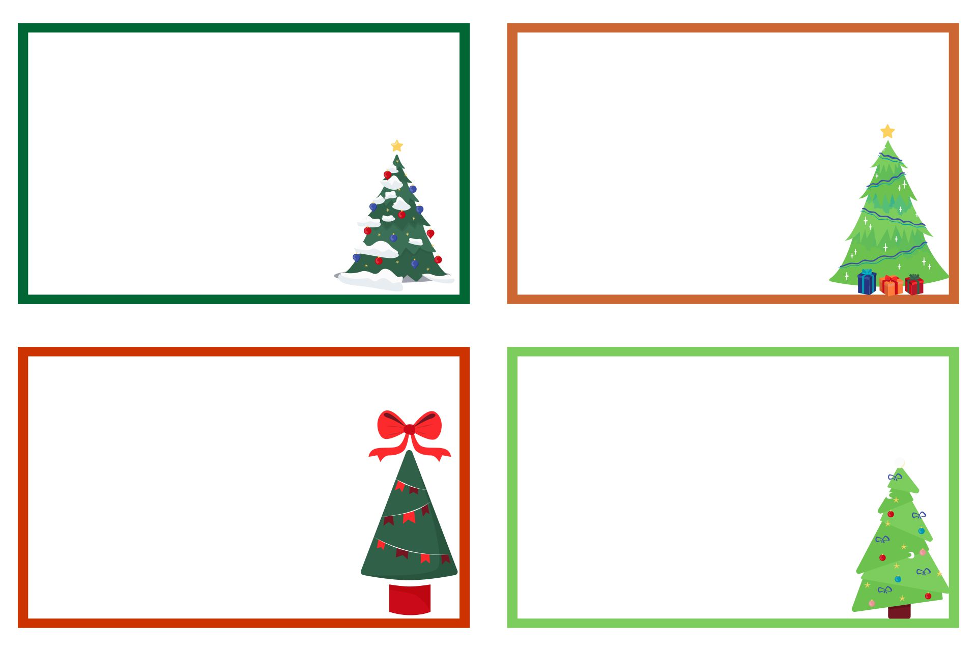 Printable Christmas Label Borders