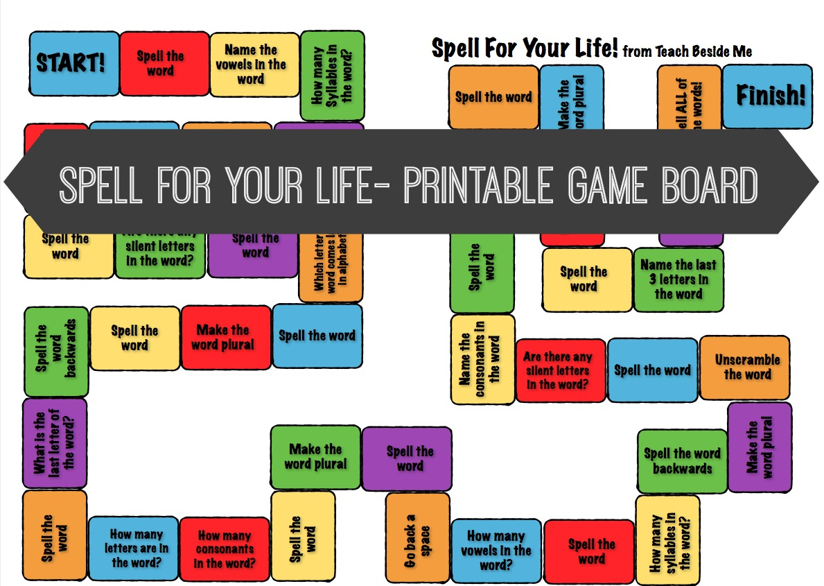 Printable Life Board Game