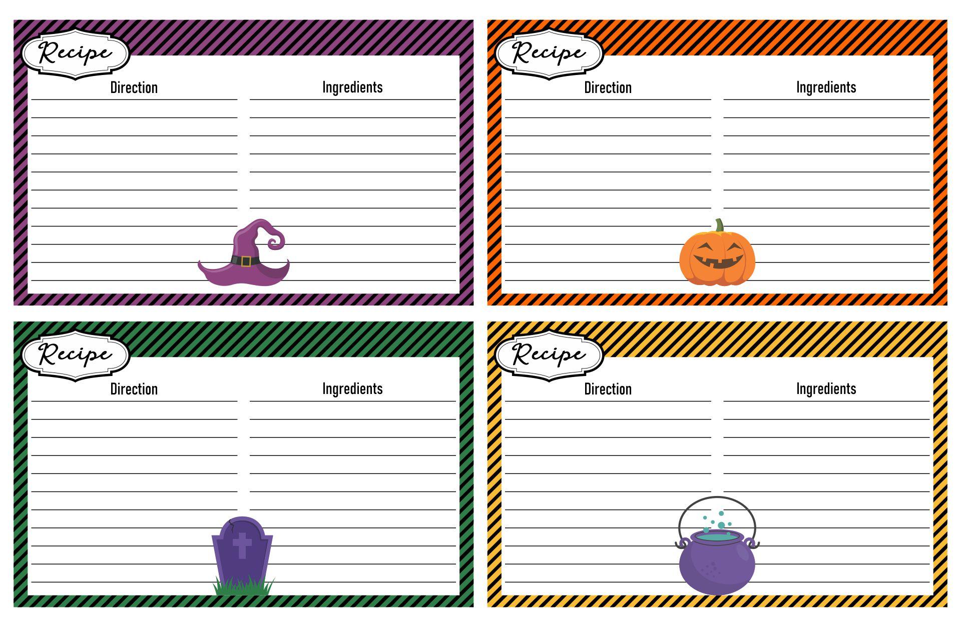 Halloween  Printable Menu Templates