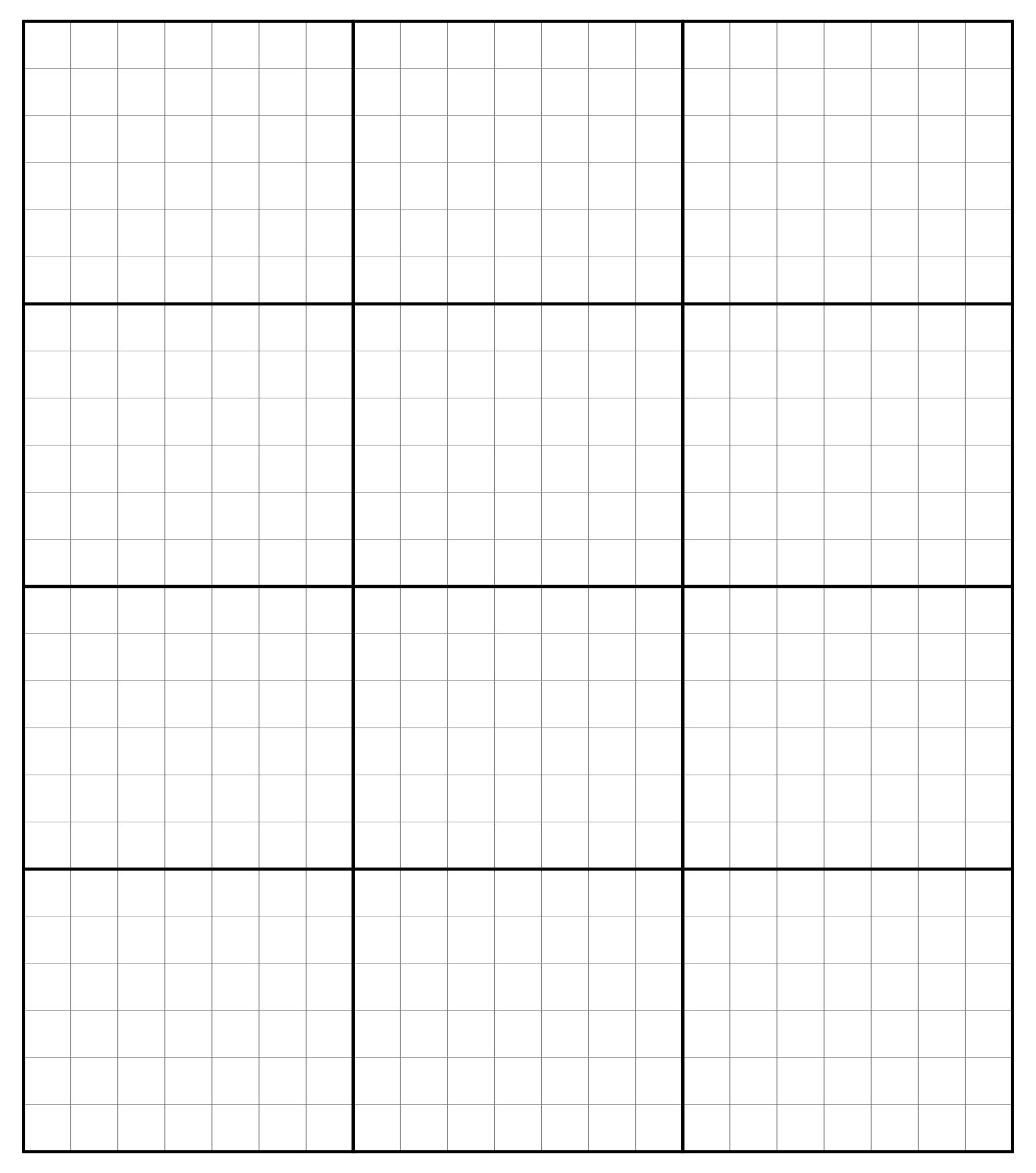 Black Printable Grid Graph Paper