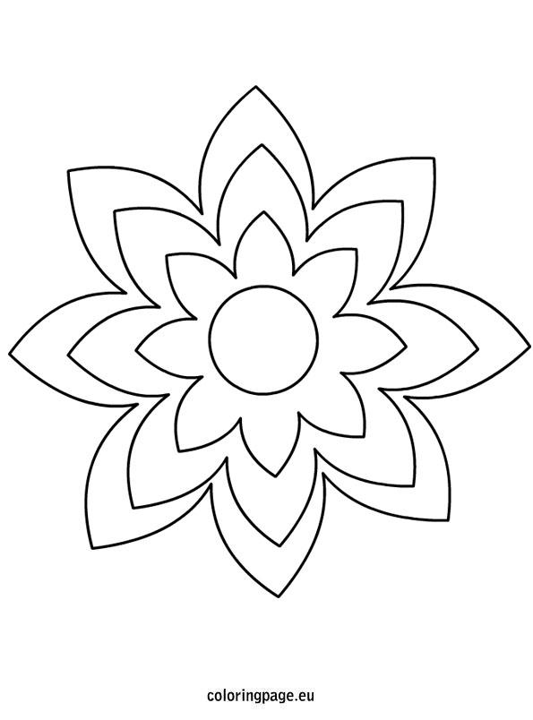 Flower template printable