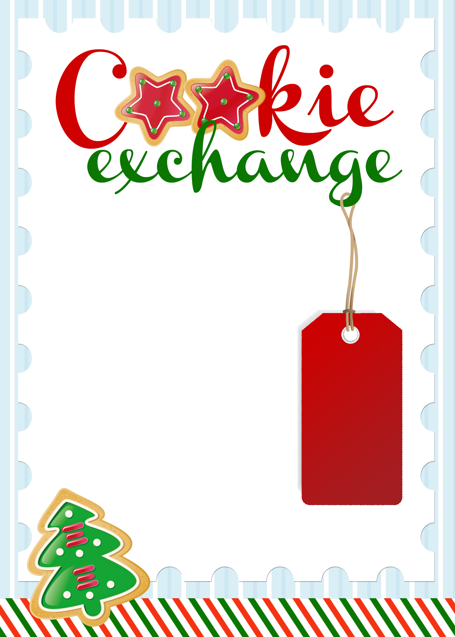 Printable Cookie Exchange Invitation Template