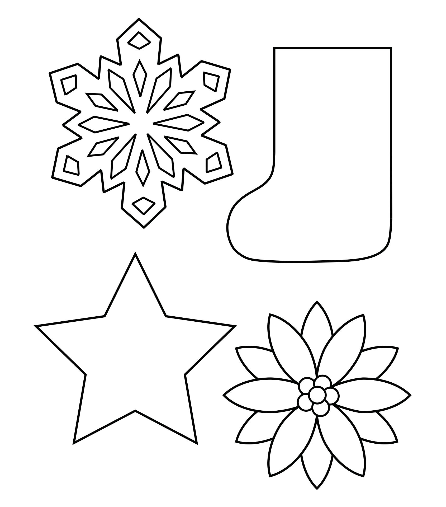 Printable Christmas Shapes Template