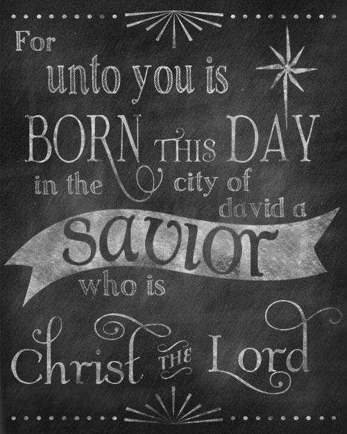 Printable Chalkboard Christmas Signs