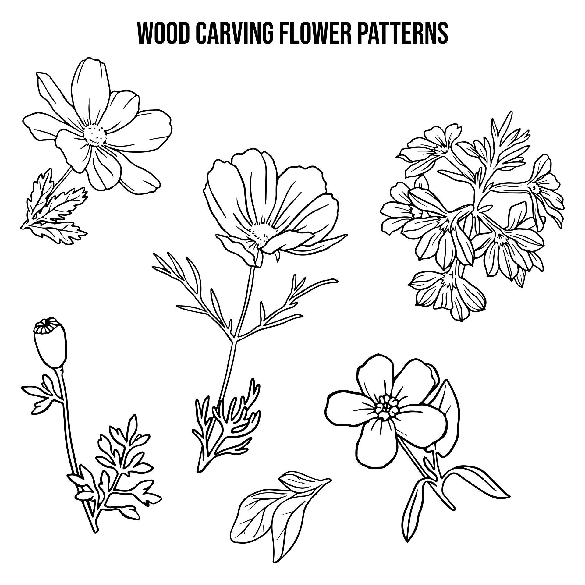 Printable Flower Patterns Wood