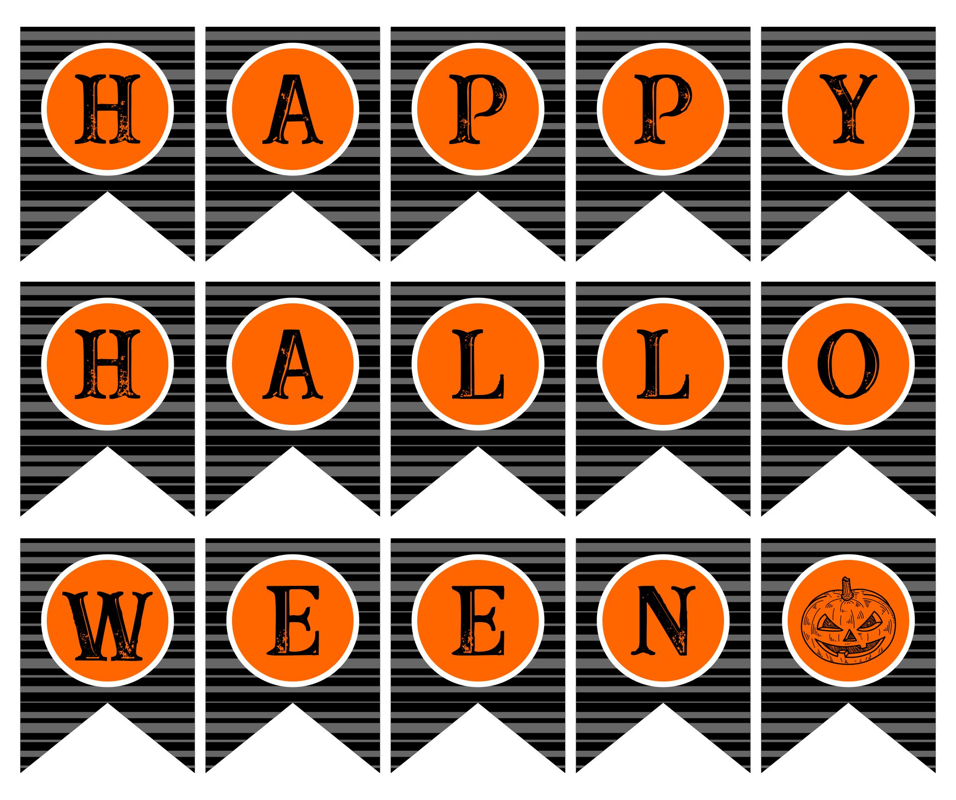 Scary Happy Halloween Banner Printable