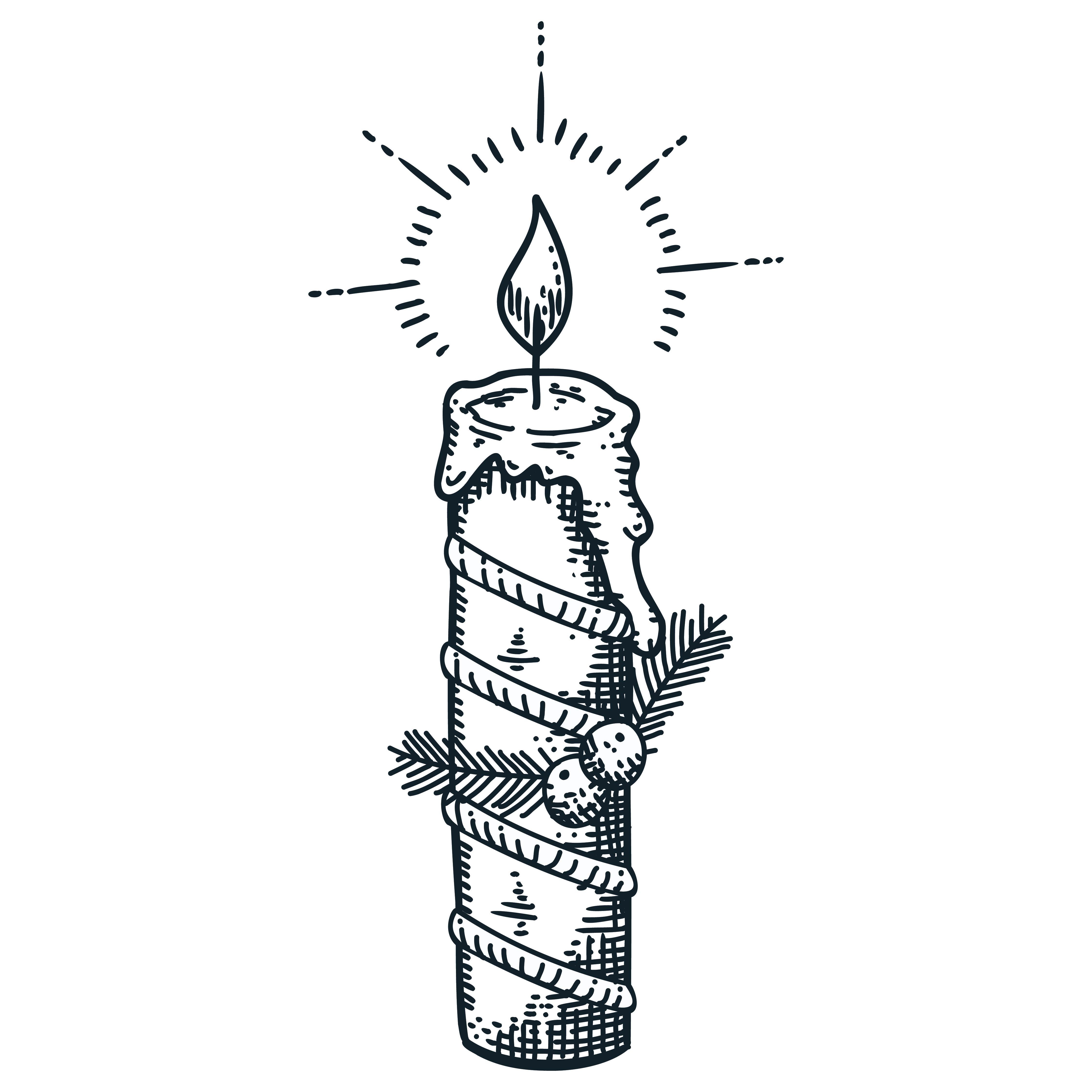 Christmas Candle Template Printable