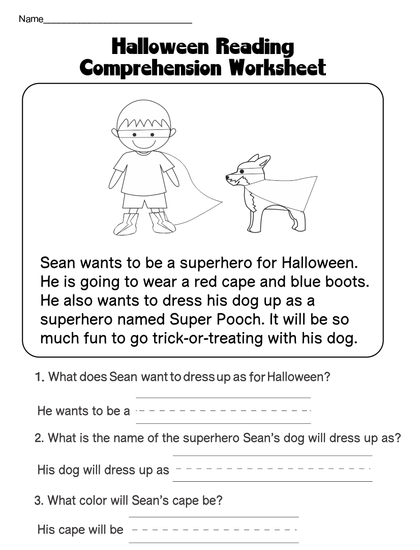 Halloween Printables For Teachers