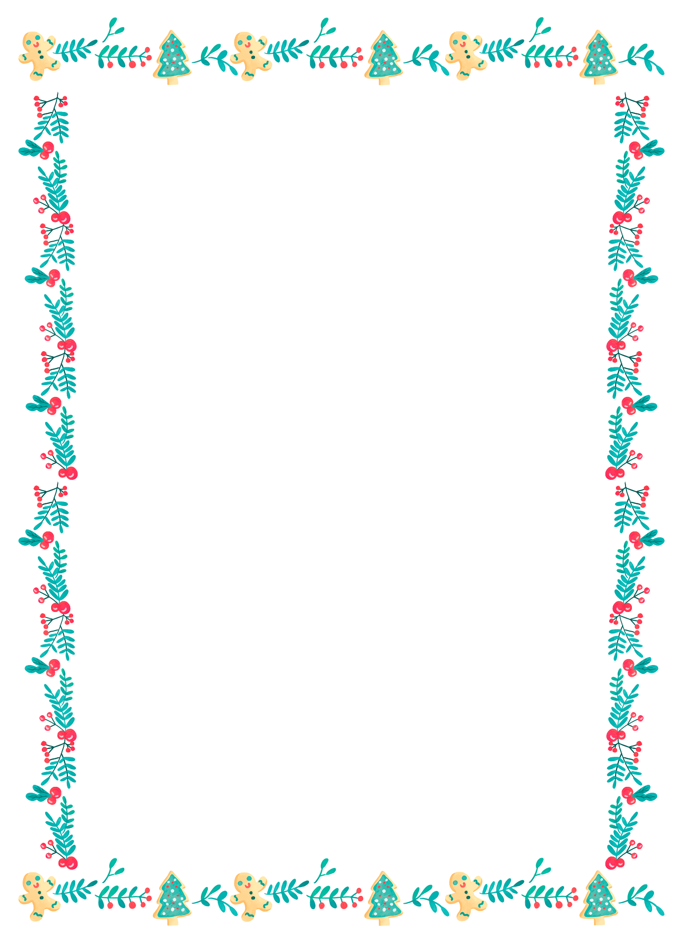 Printable Christmas Borders And Background