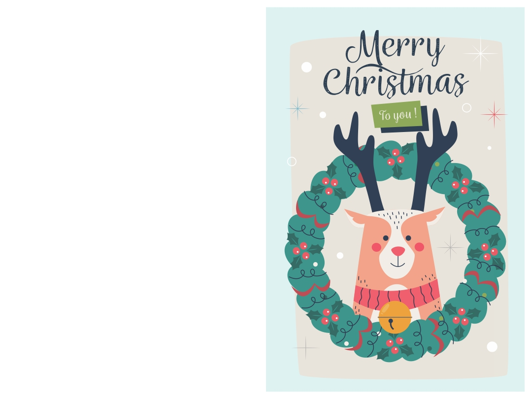 Foldable Card Printable Merry Christmas