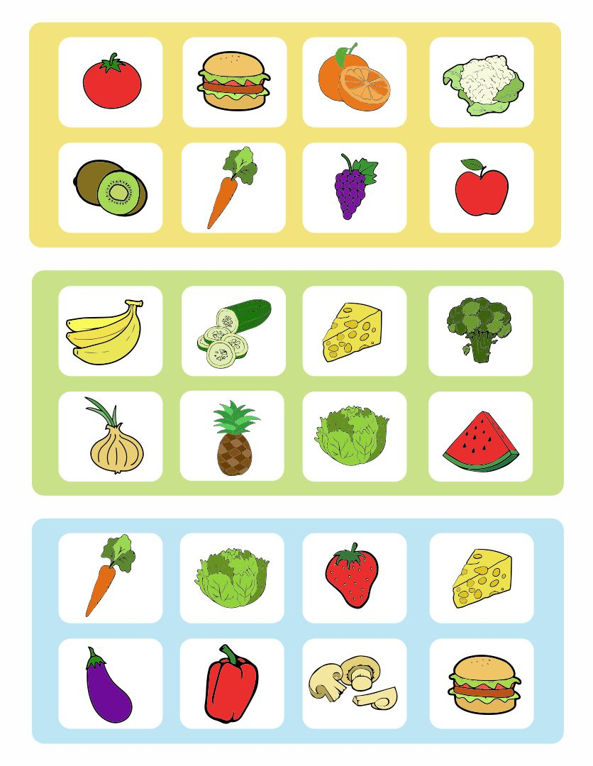 Printable Board Game Food
