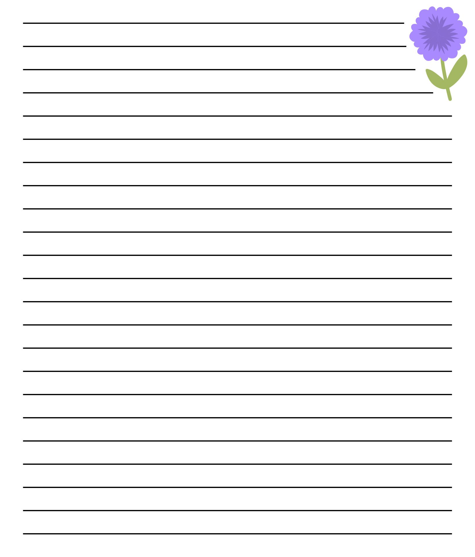 Printable Lined Stationery