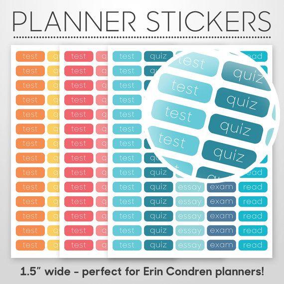 Printable Erin Condren Sticker College