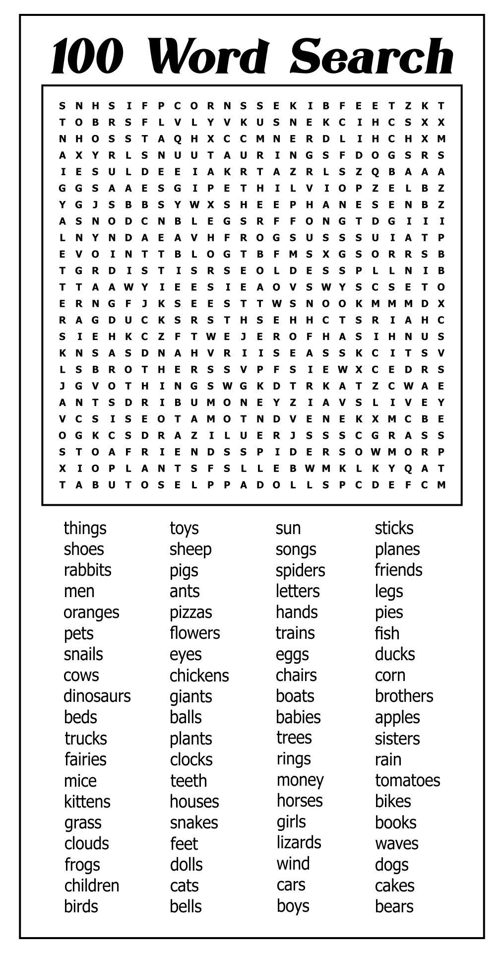 Mega Word Searches Printable