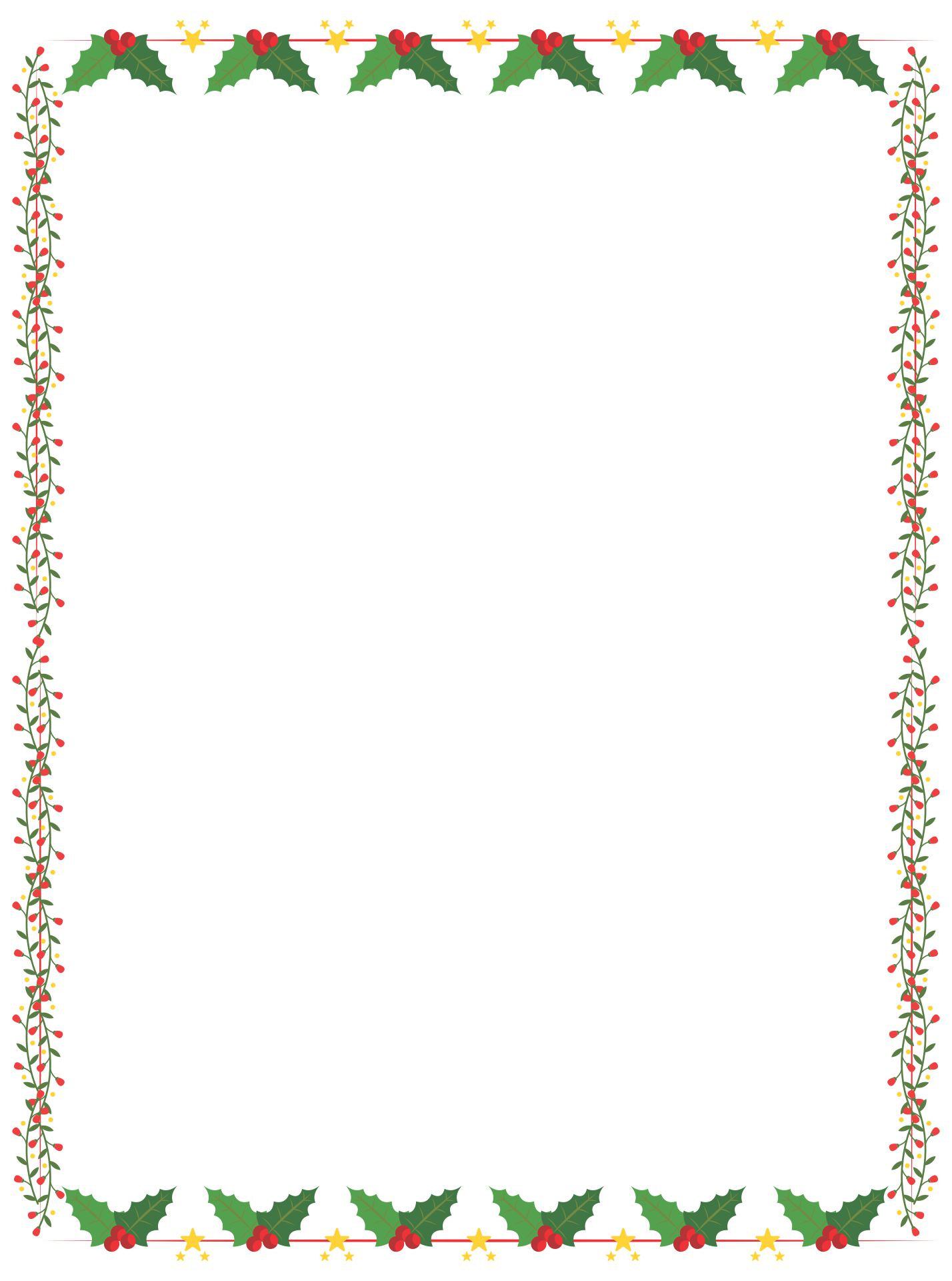 Printable Christmas Paper Borders