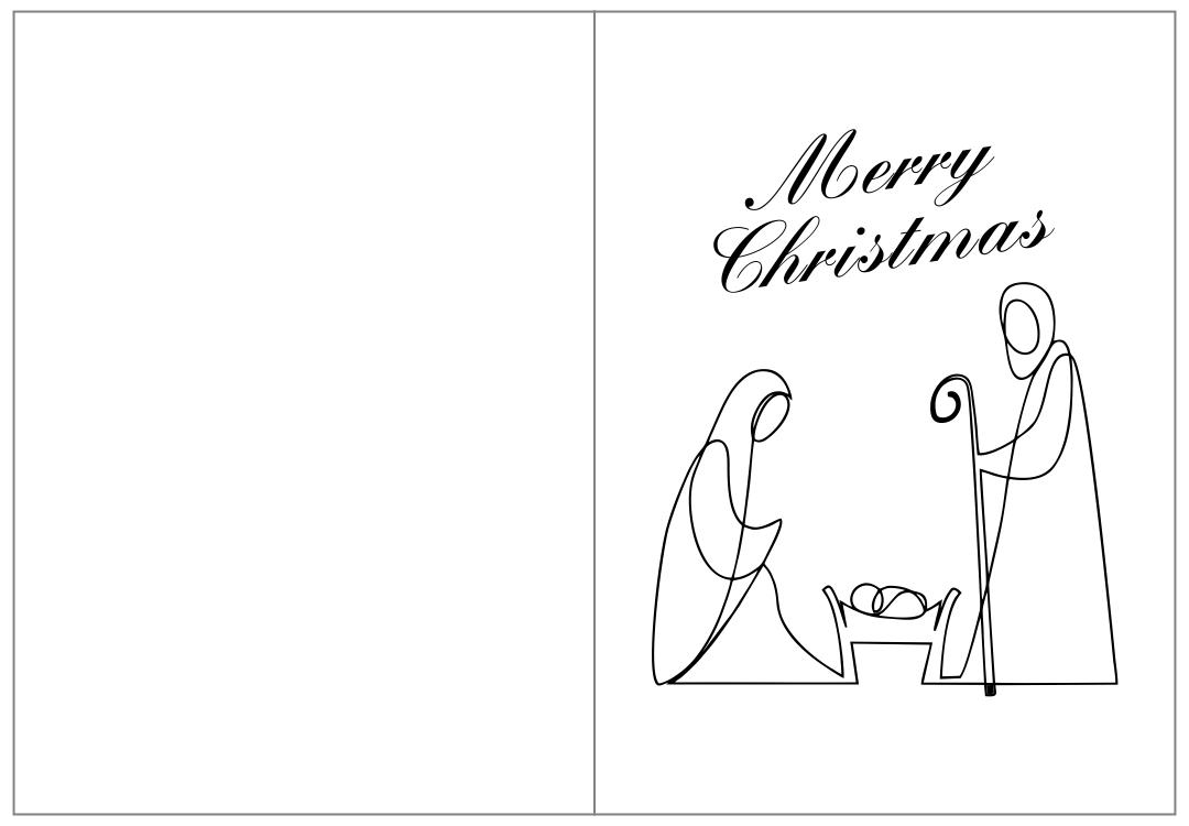 Christmas Nativity  Printable Cards