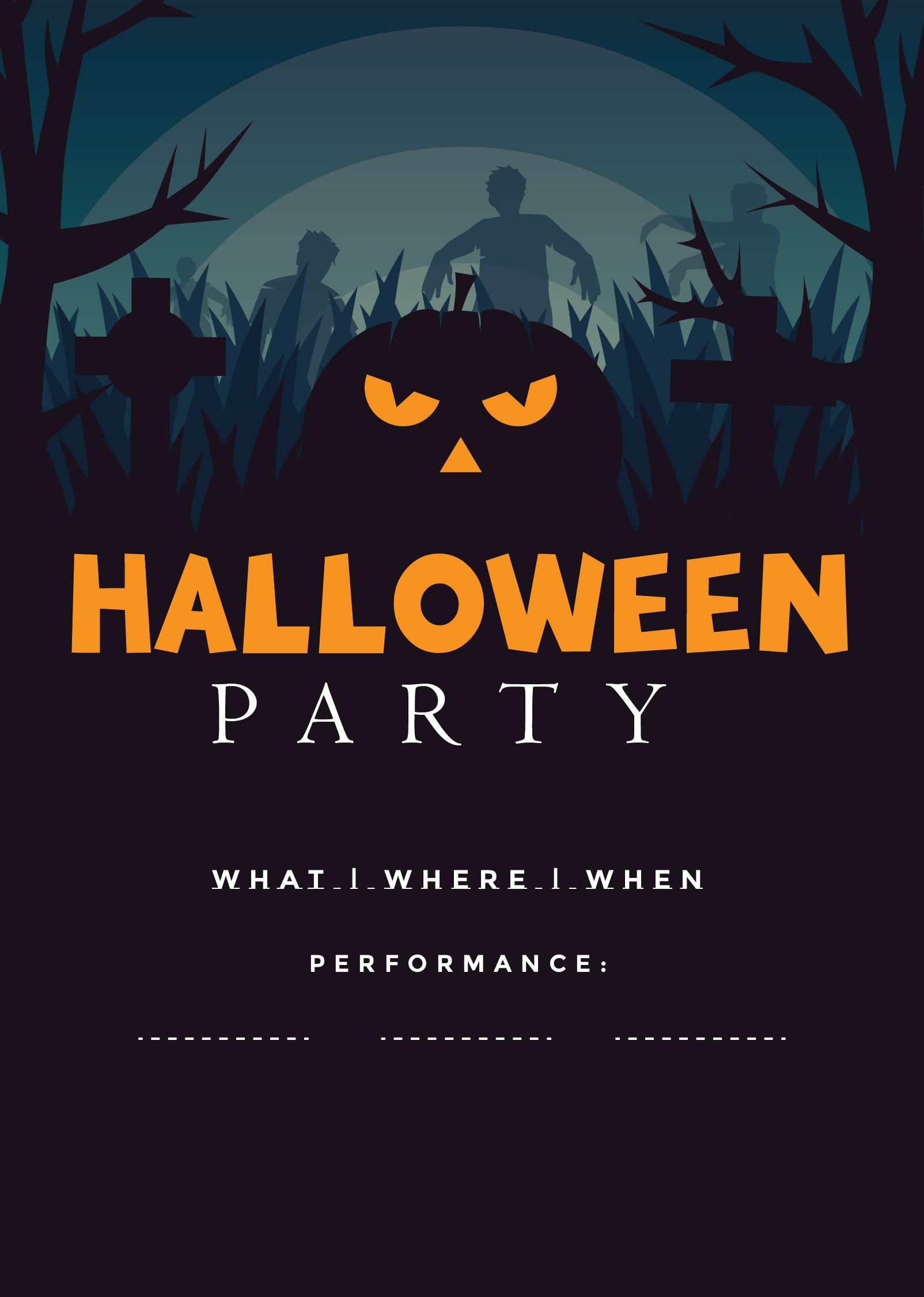 Printable Halloween Flyer Templates