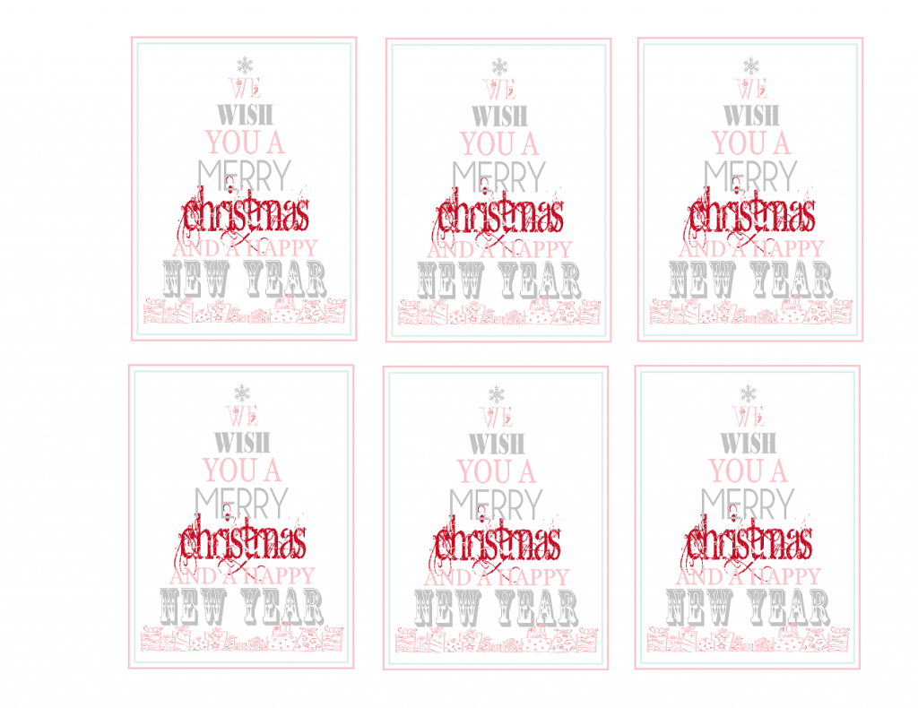Merry Christmas Printable Cookie Tags
