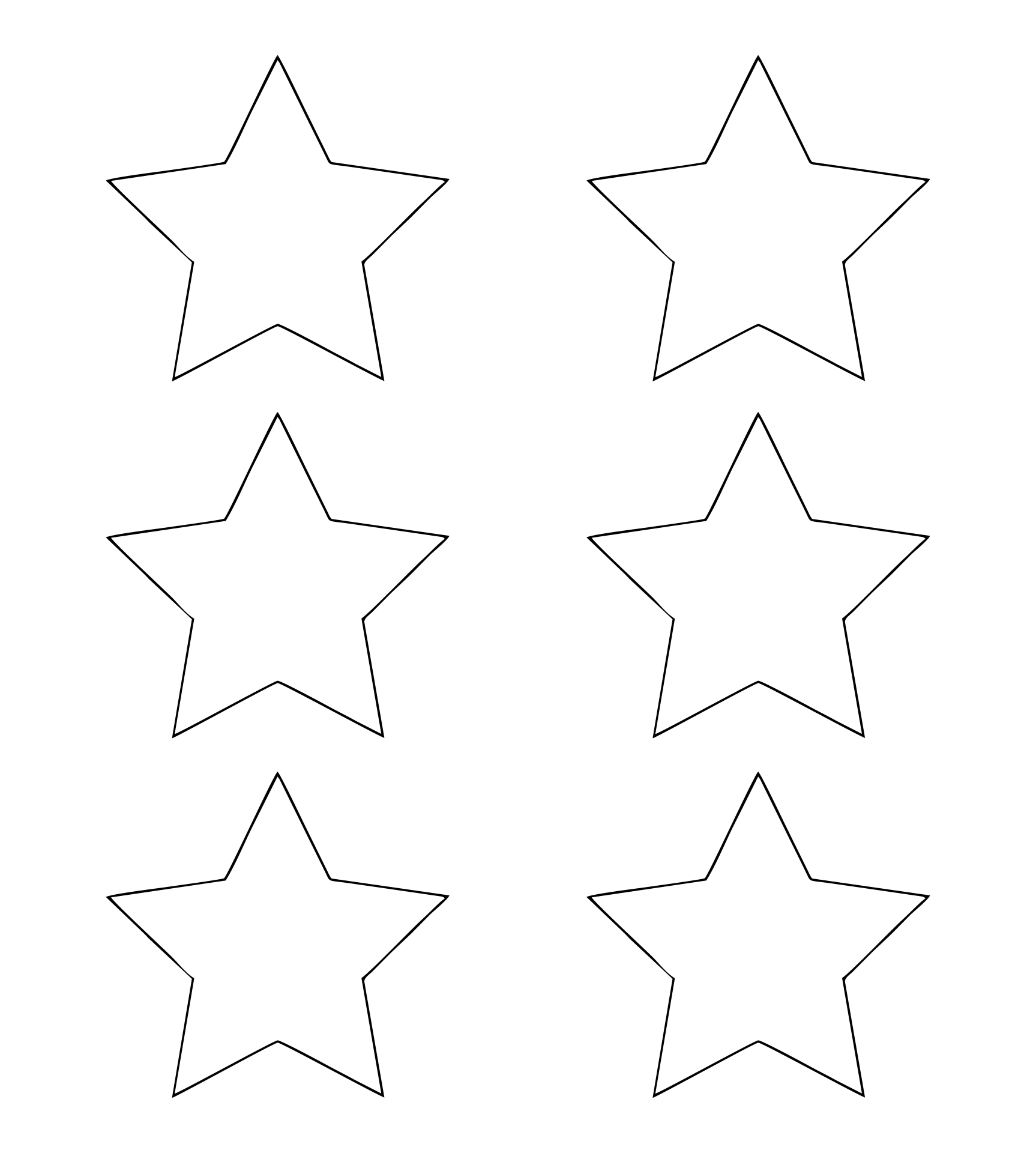Printable Christmas Star Ornaments