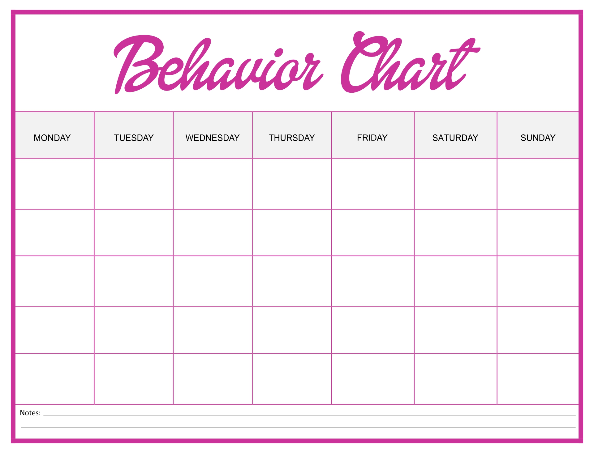 Printable Frozen Behavior Charts