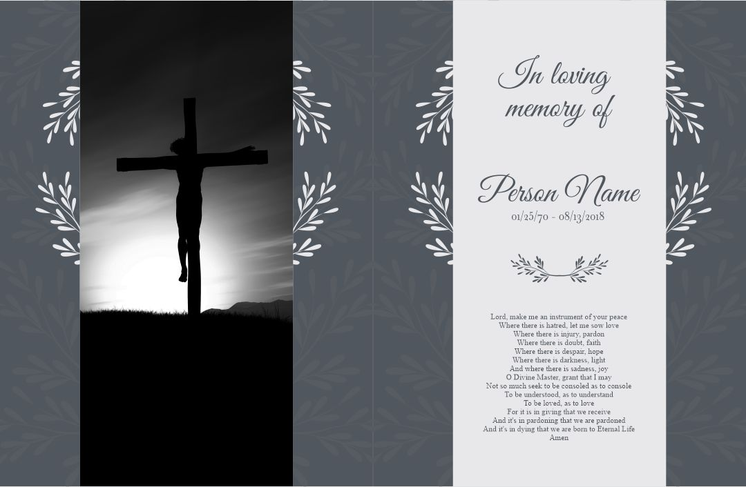 Printable Memorial Card Templates