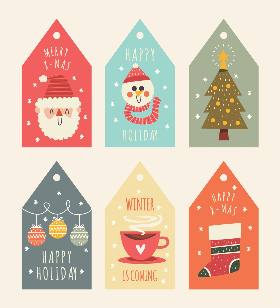 Printable Vintage Christmas Labels
