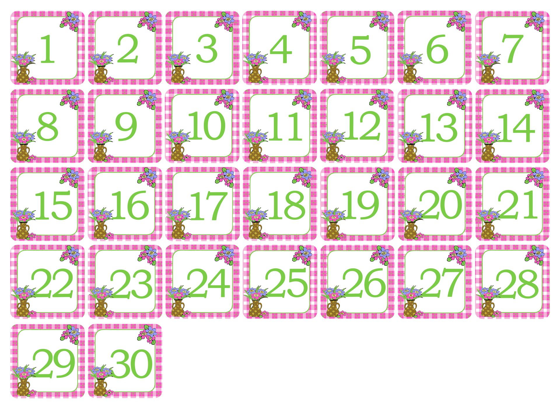 Blank Calendar Without Numbers : Best images of printable spring calendar numbers free