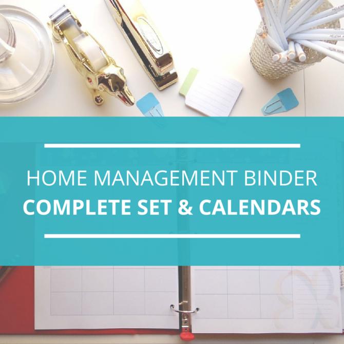 Home Management Binder  Printable 2016