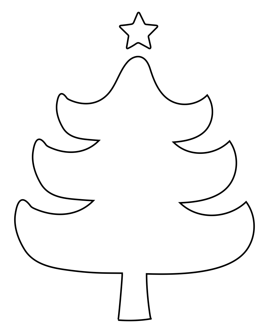 Christmas Tree Cut Out Pattern Printables