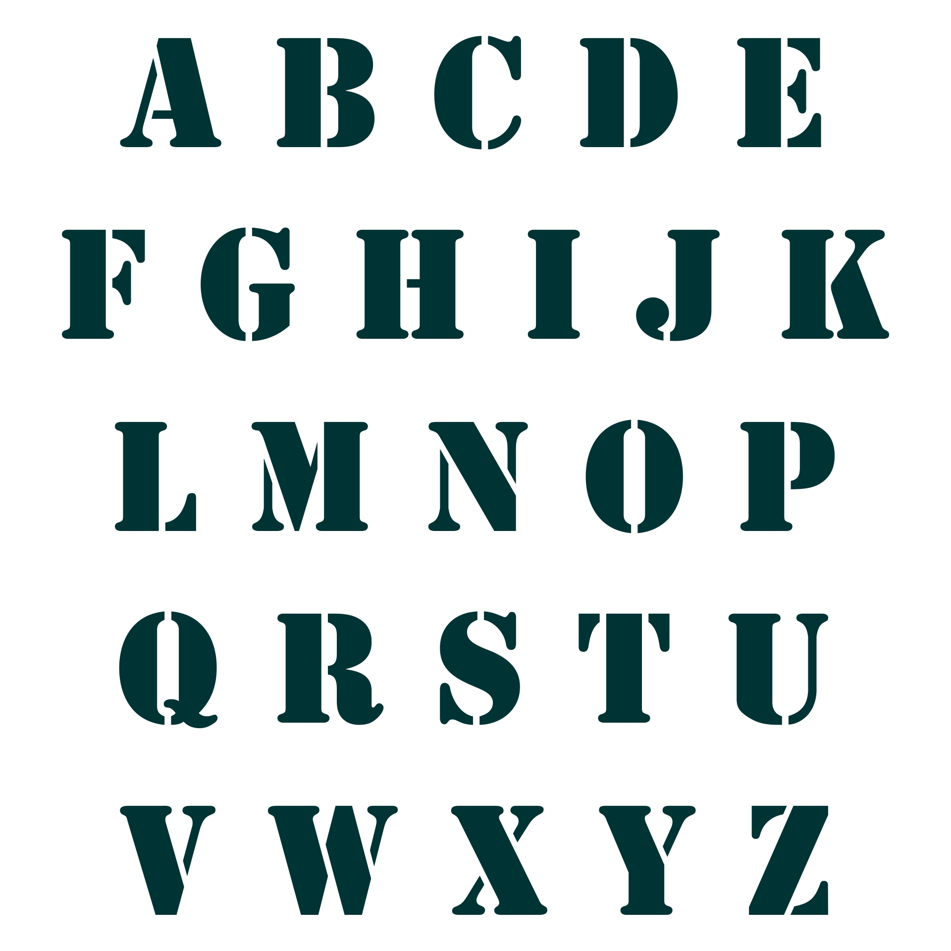 Big Alphabet Stencils Printable