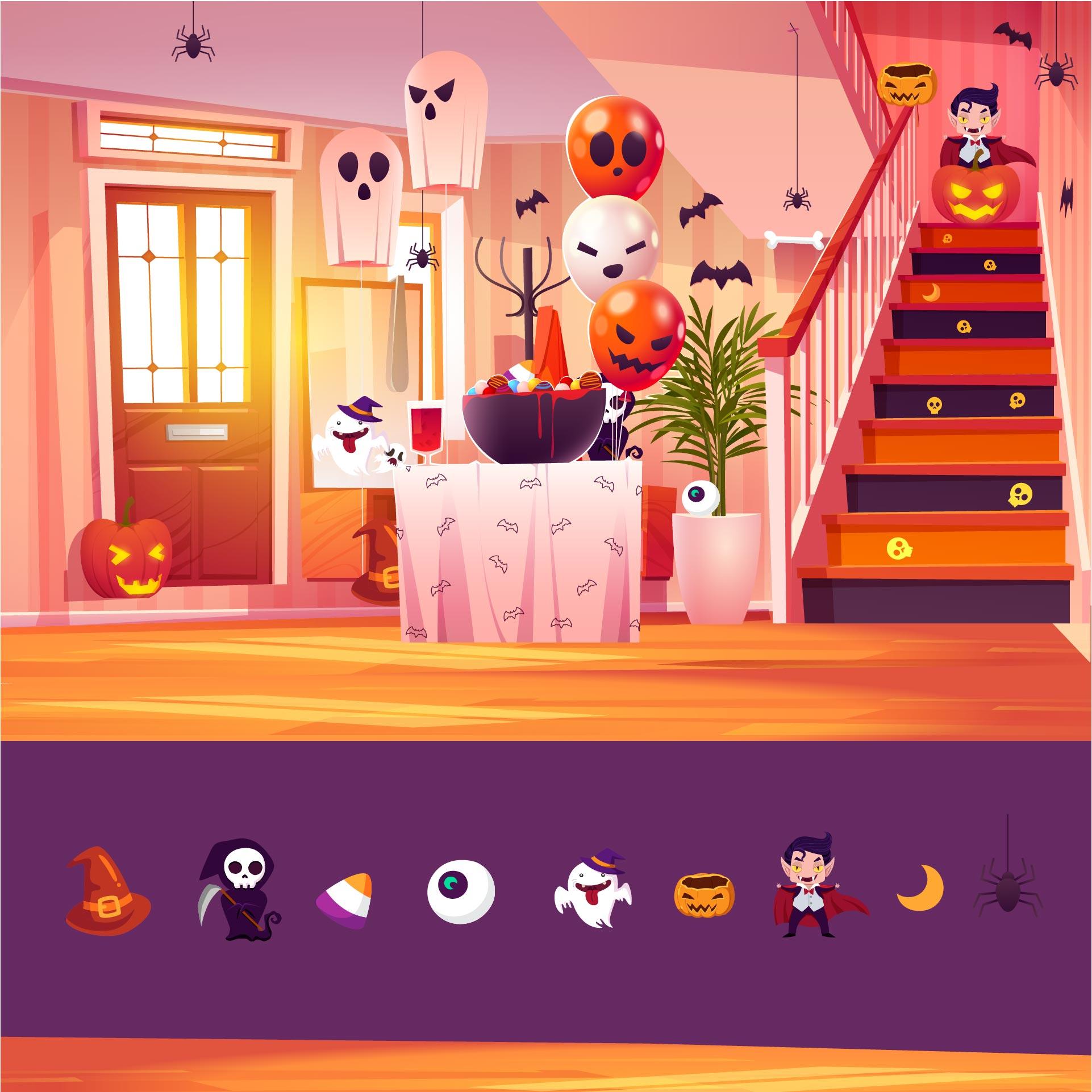Halloween Hidden Object Puzzles Printable