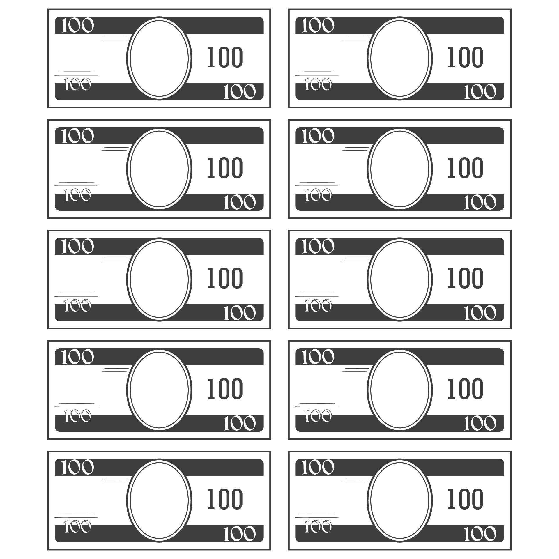 Printable Play Money Actual Size