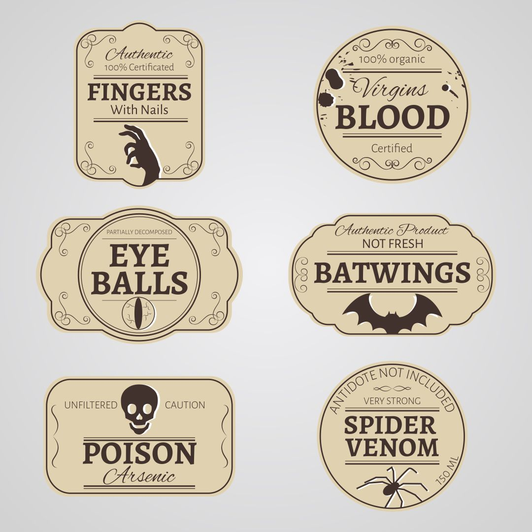 Vintage Halloween Printable Labels