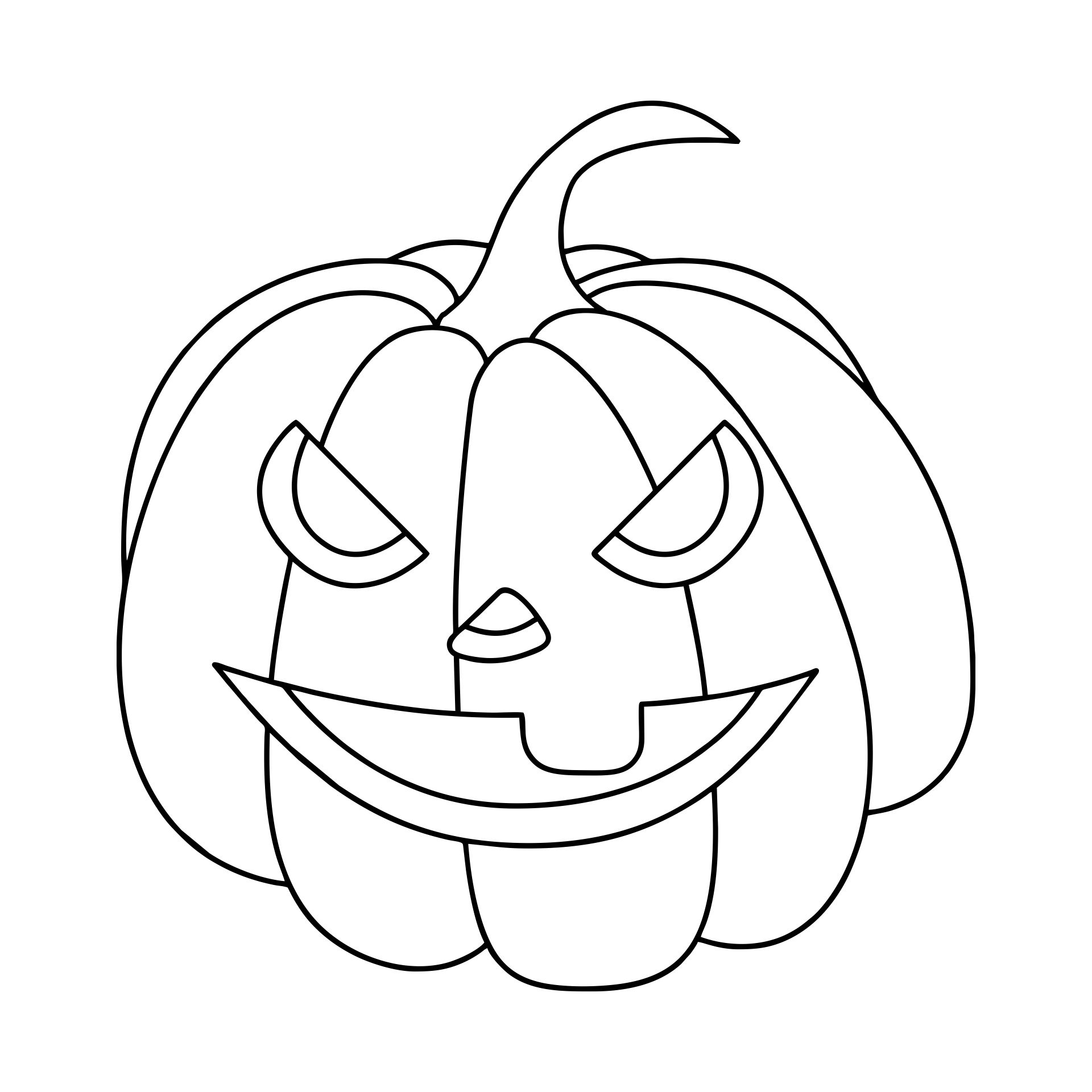 Pumpkin Halloween Mask Templates Printable