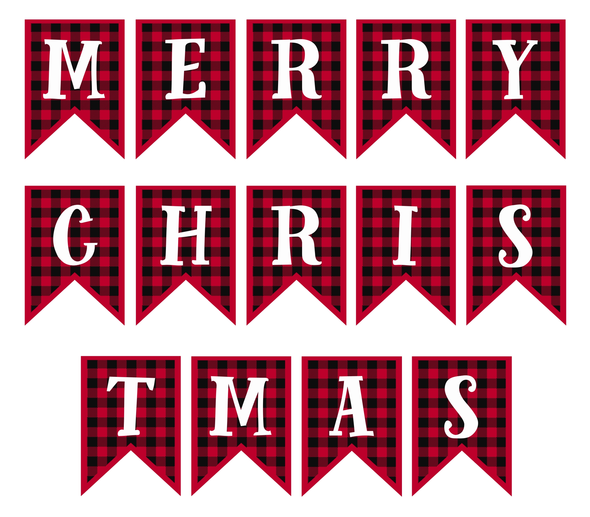 Printable Merry Christmas Lettering