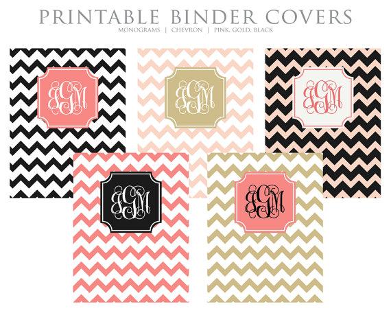 Gold Binder Cover Printable