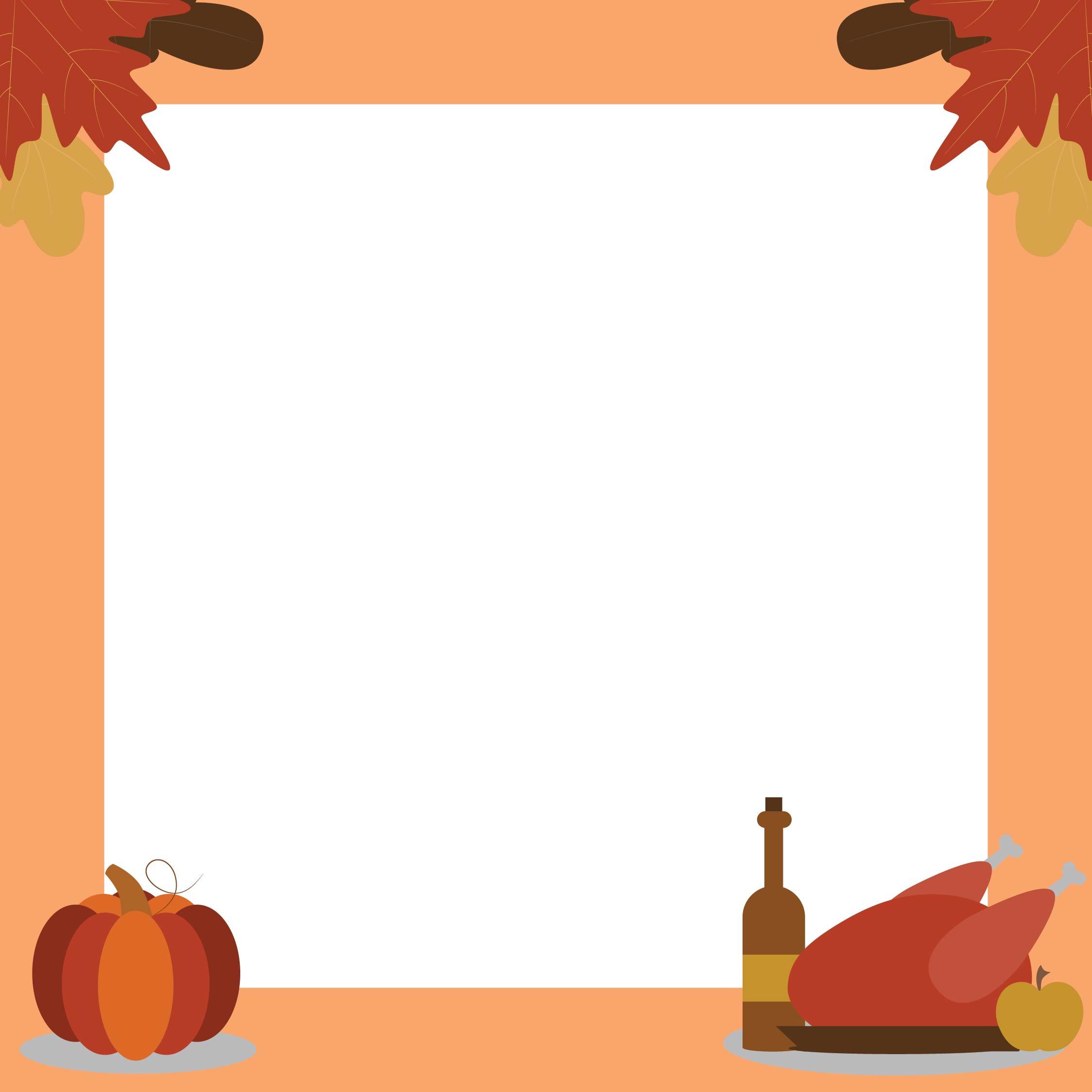 Thanksgiving Border Clip Art Printable