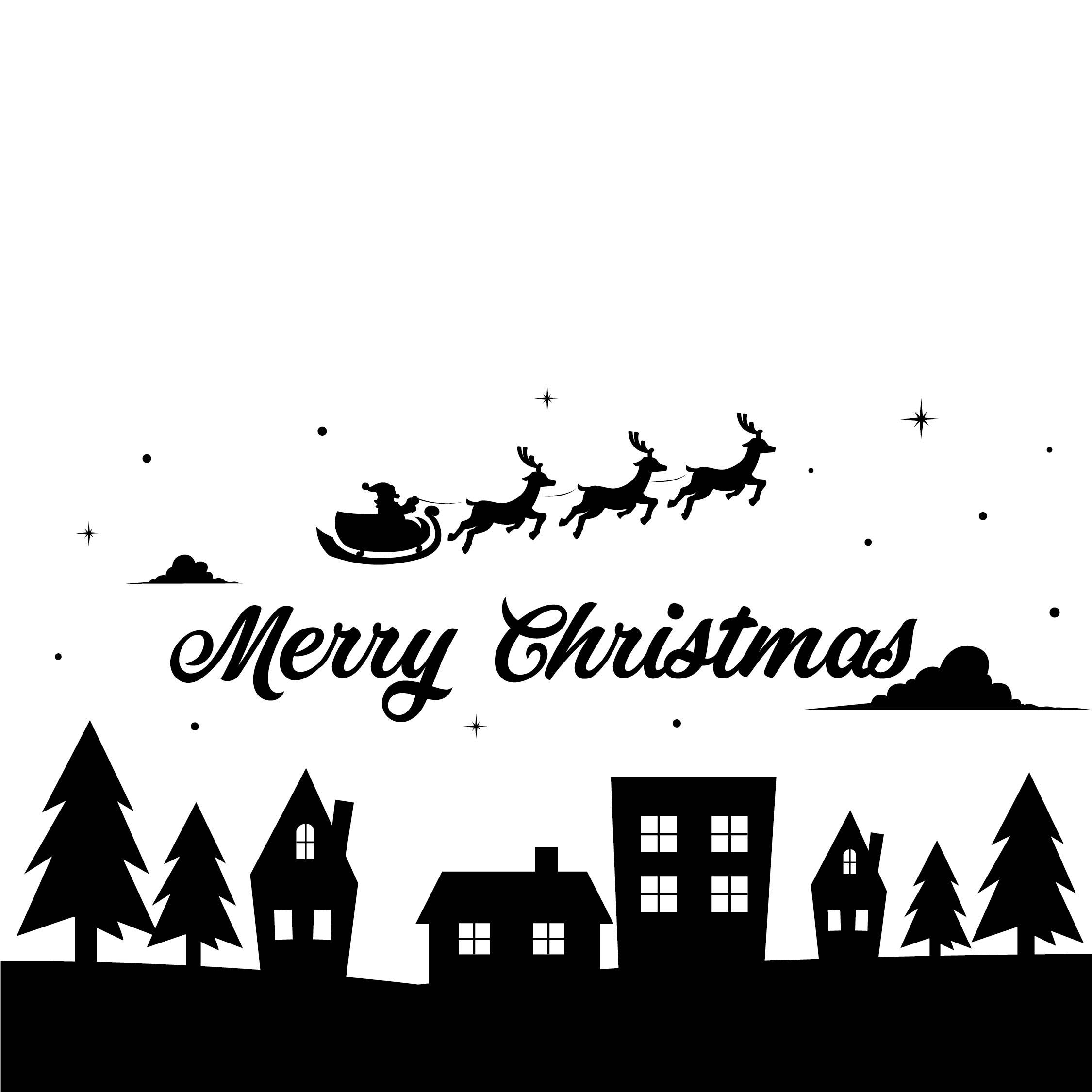 Printable Christmas Cards Black And White