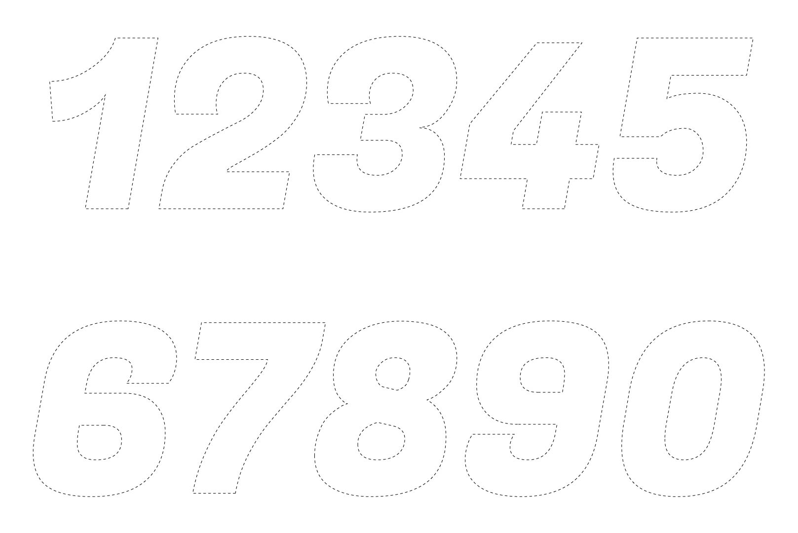Large Printable Cut Out Numbers