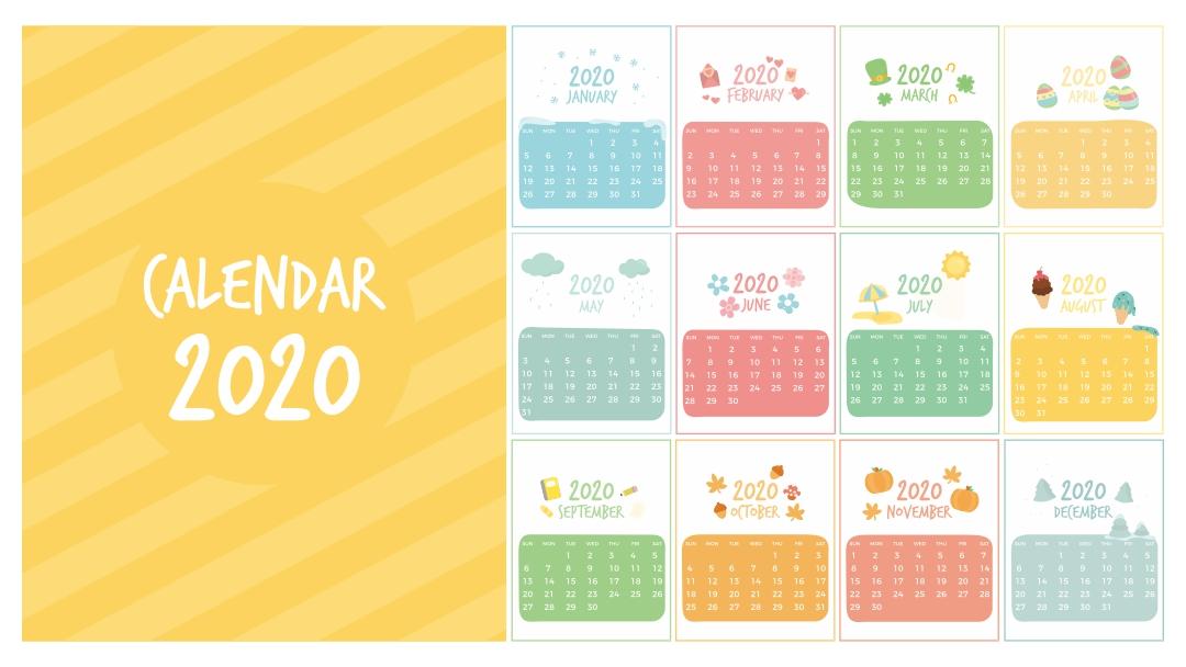 Printable Preschool Calendars