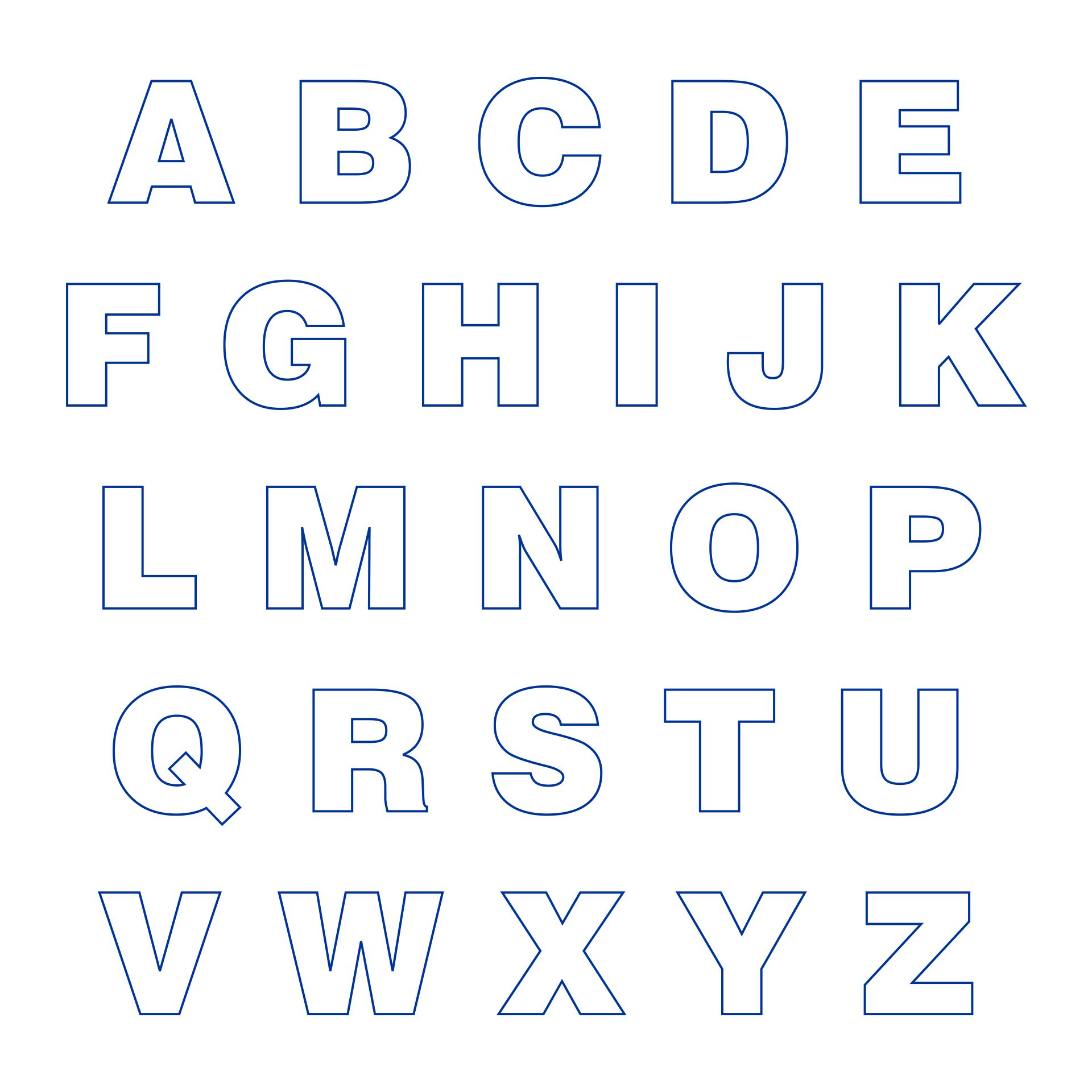 Big Printable Cut Out Letters