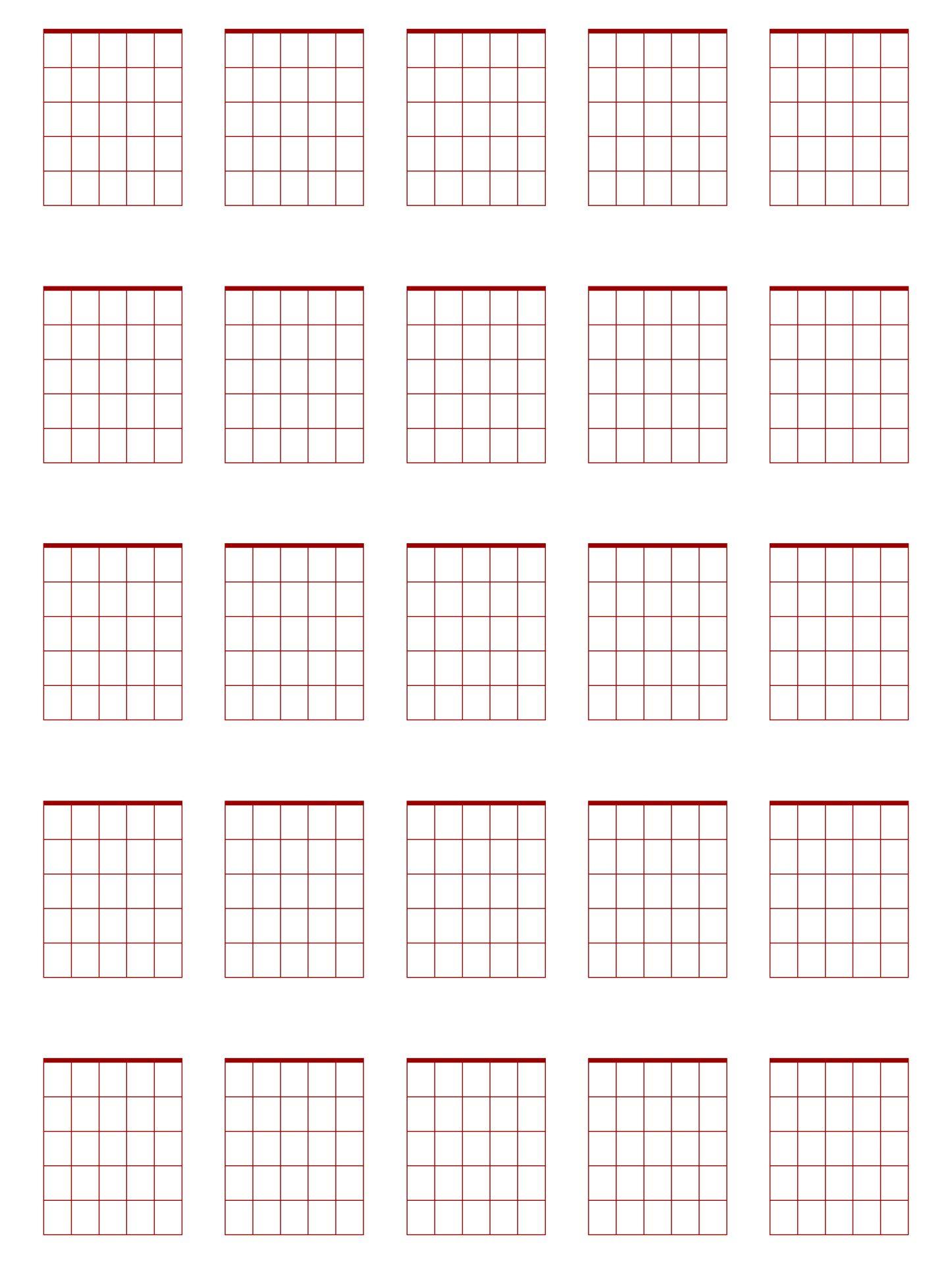 Printable Guitar Boxes