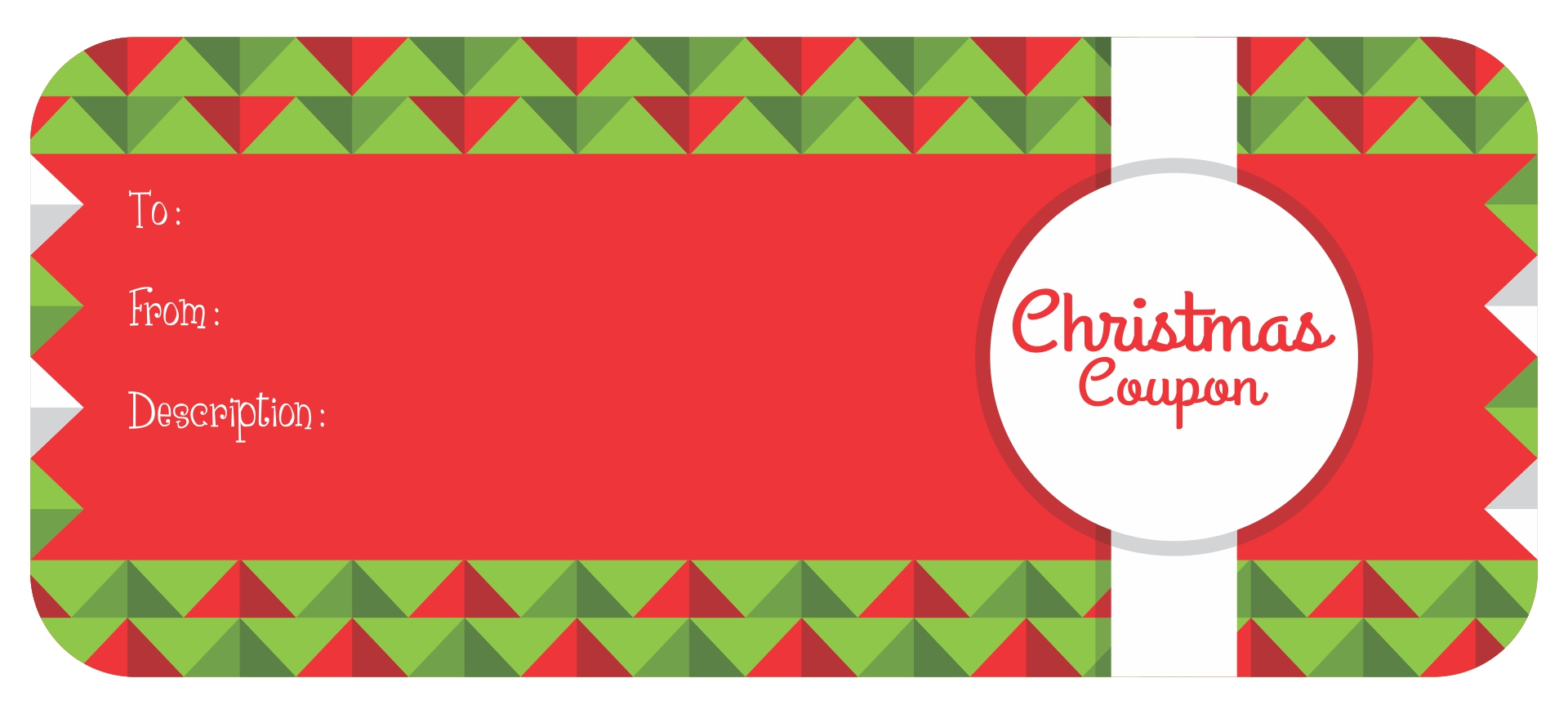 Printable Christmas Gift Voucher Templates