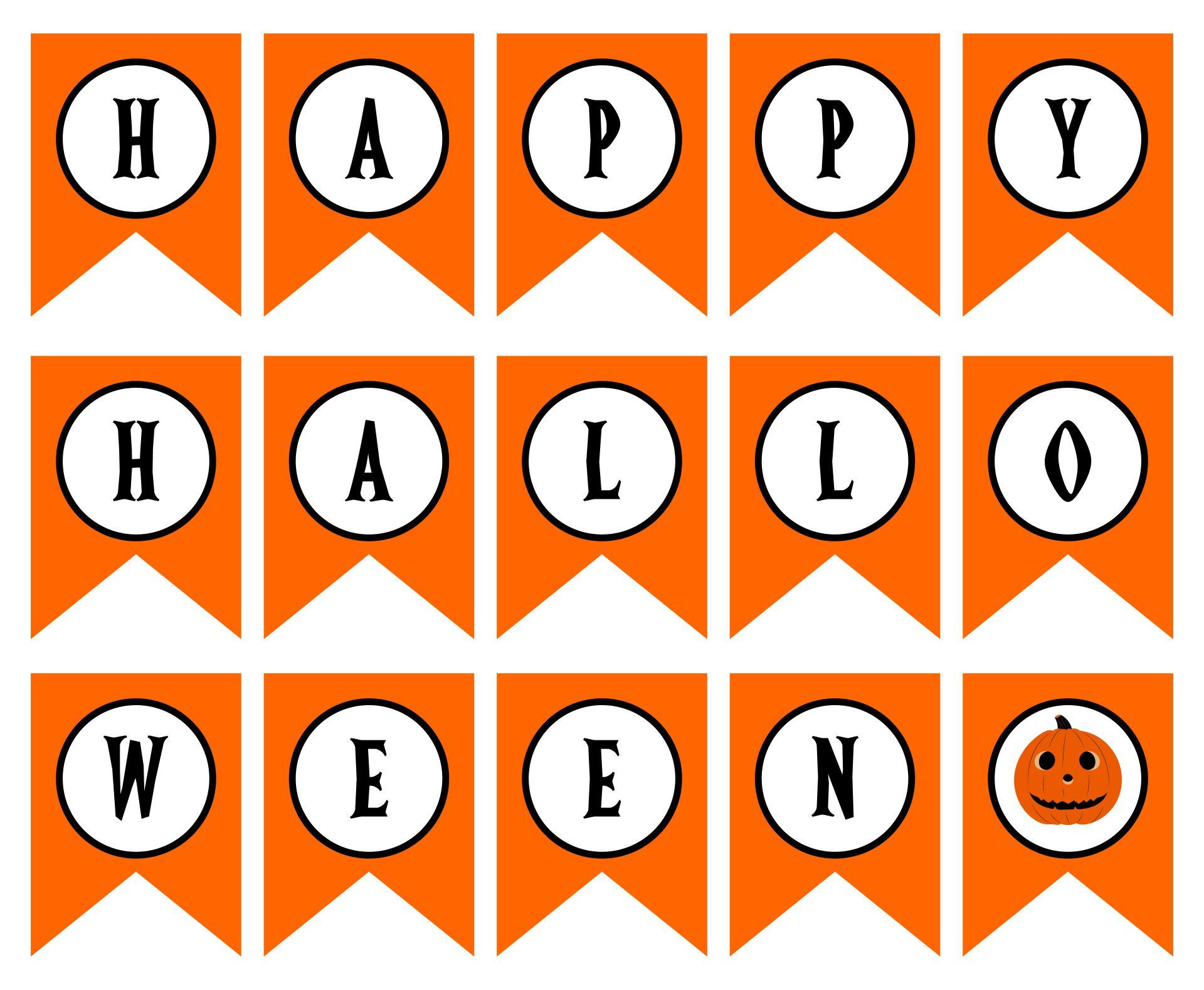 DIY Printable Halloween Banner
