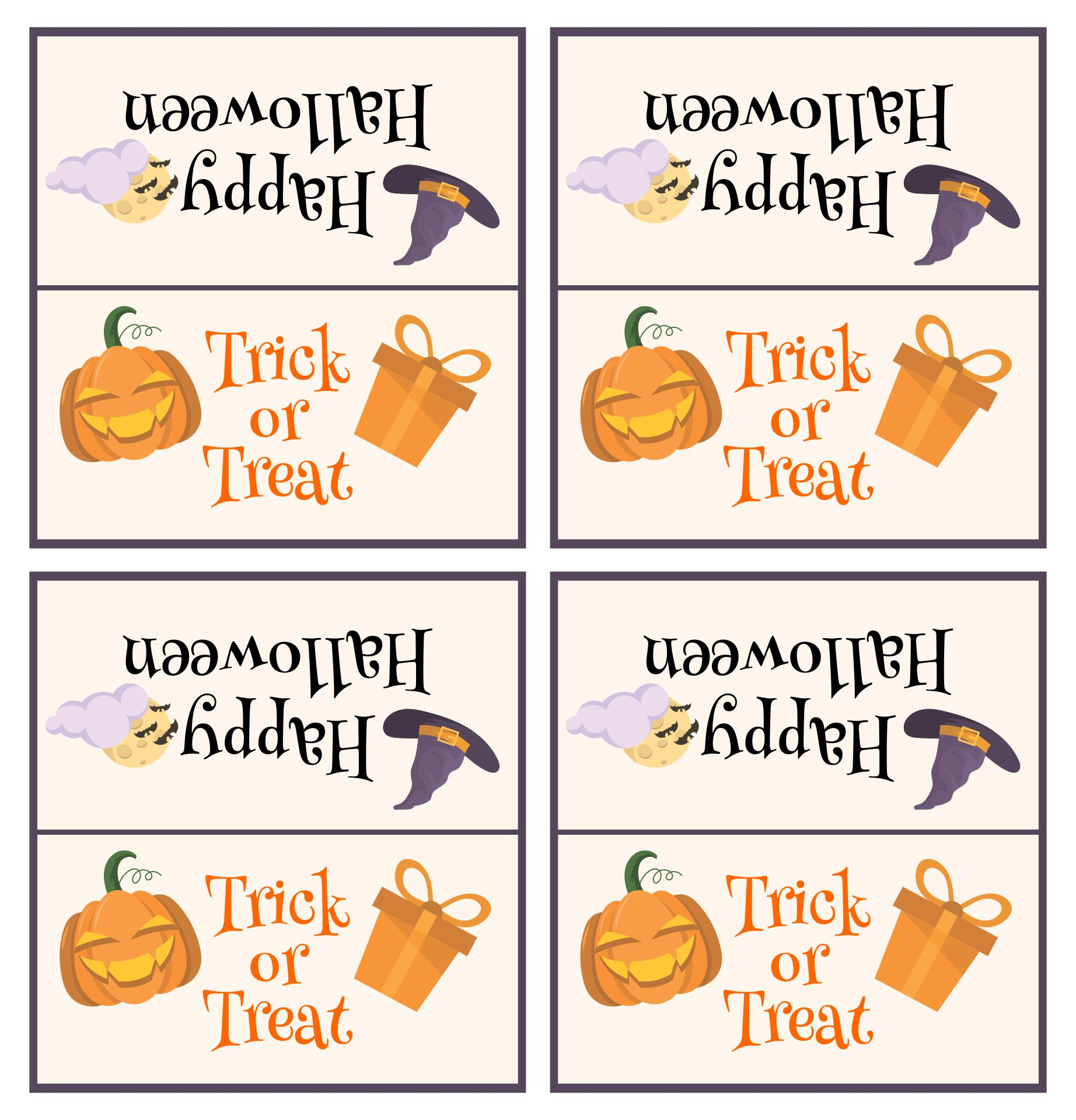 Printable Halloween Candy Toppers
