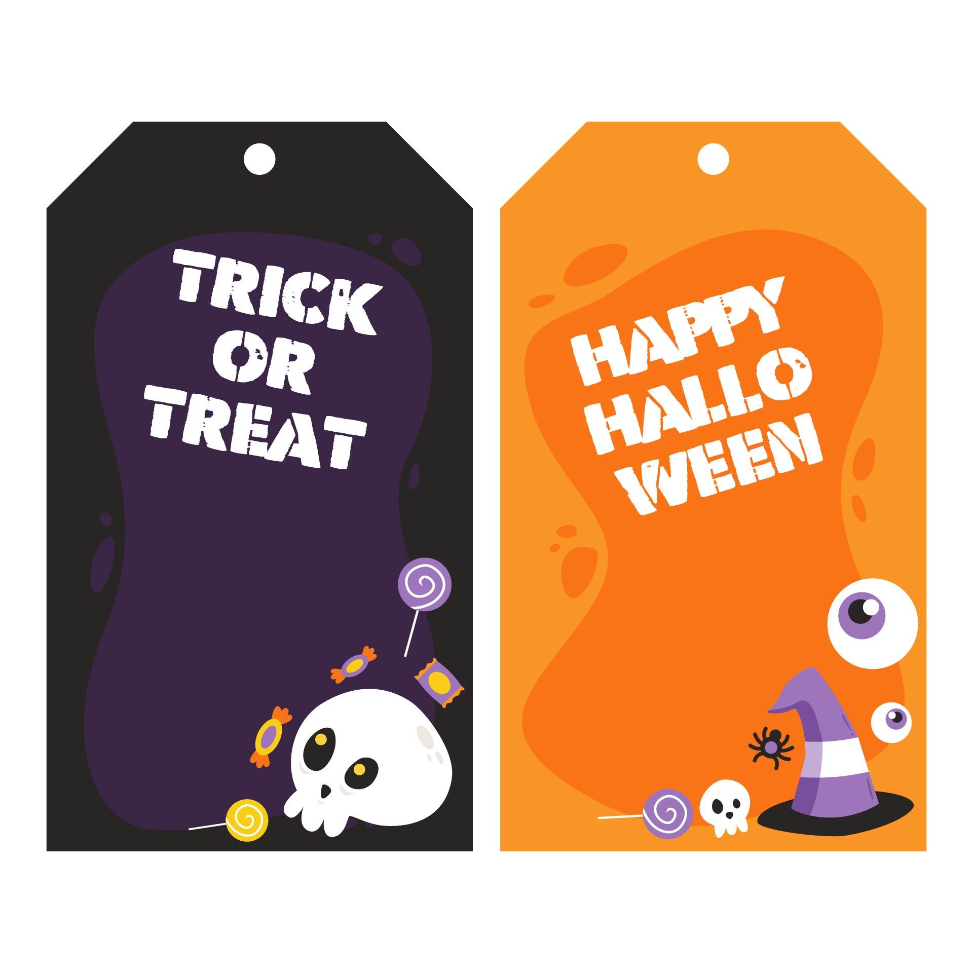 Halloween  Printable Tag Templates