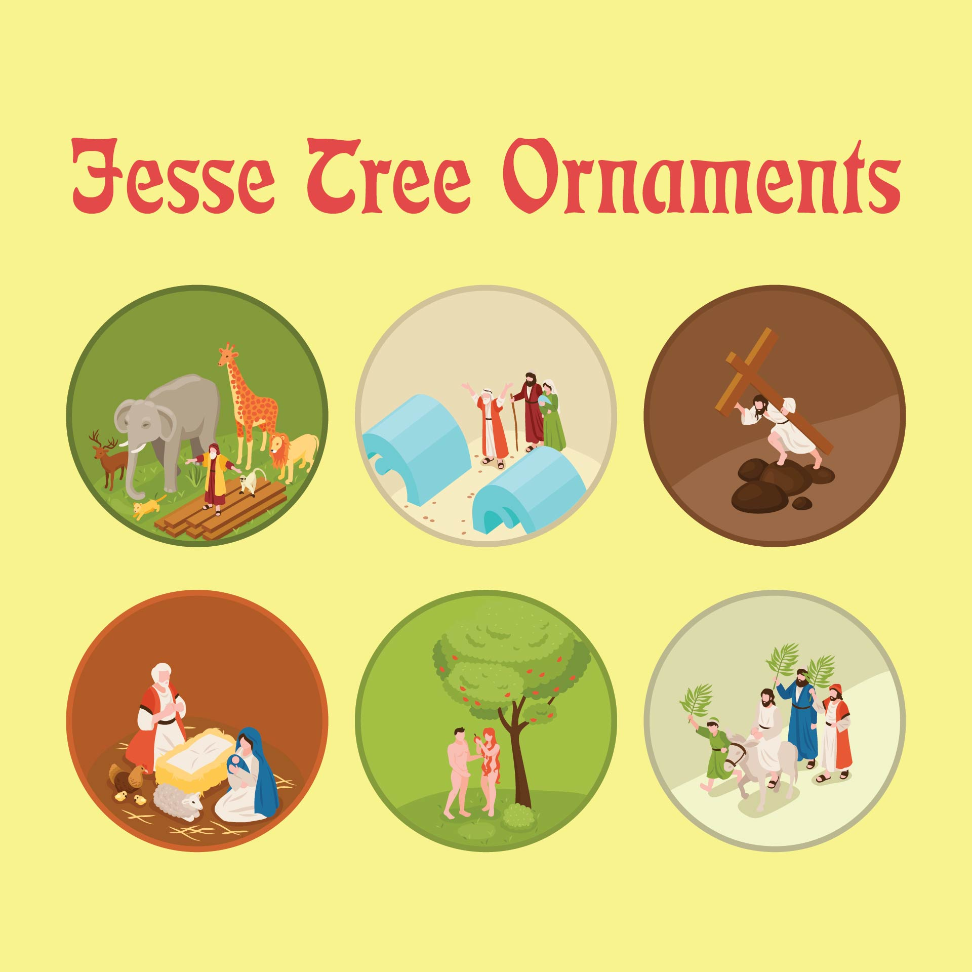 Printable Catholic Jesse Tree Symbols